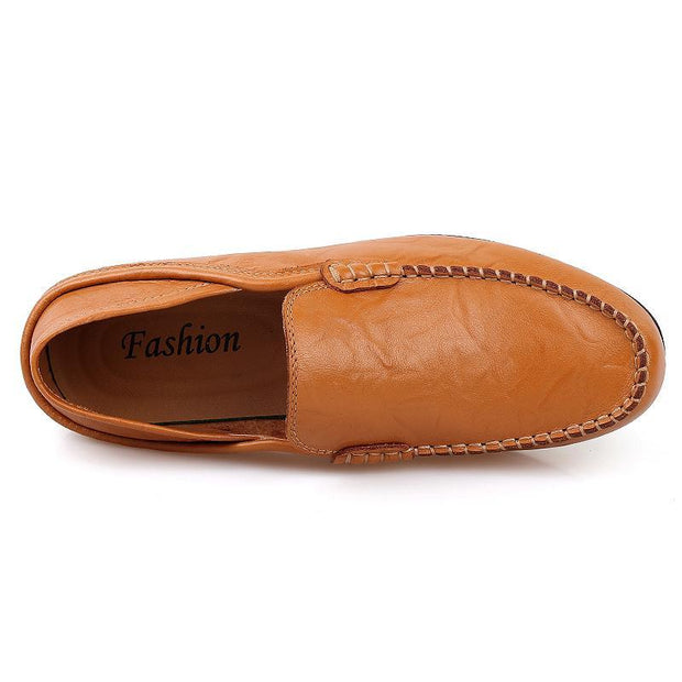 Pearlzone_Men's leather peas shoes 119037
