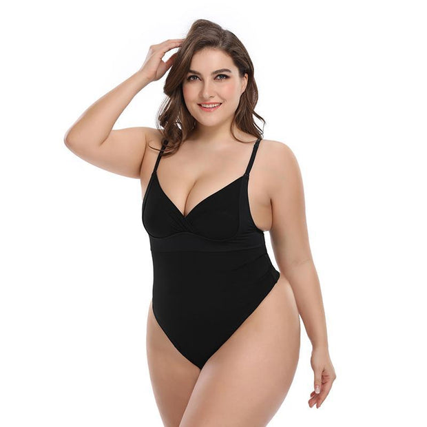 Women Solid Mesh Tummy Control Body Shapewear Push Up Overbust Slimming Bodysuit 116820