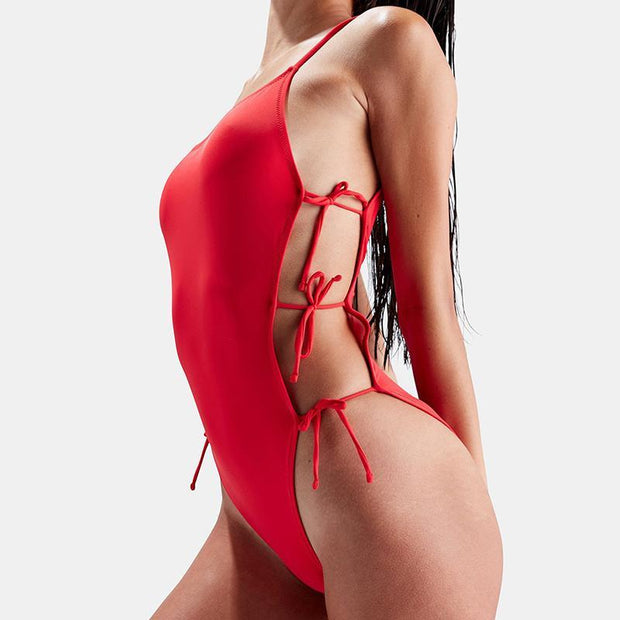 Women Summer Fashion Beach Sexy Swimsuit Backless One Piece String Bikini 131723