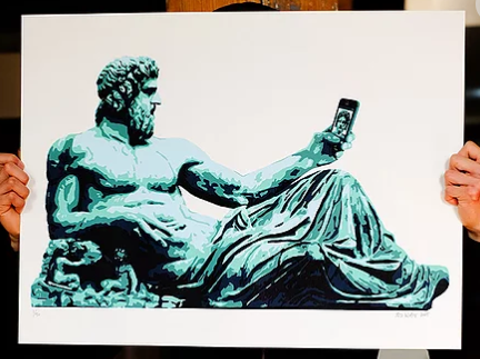 Selfie Screen Print