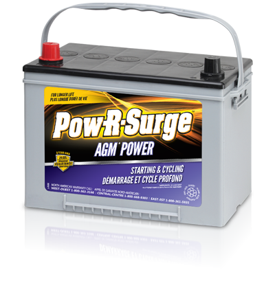Pow-R-Surge 31DTM AGM BATTERY 12 VOLT -  105AH - I&M Electric