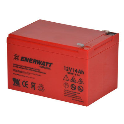 Enerwatt WPHR12-14 BATT AGM 12V 14AH HIGH RATE - I&M Electric