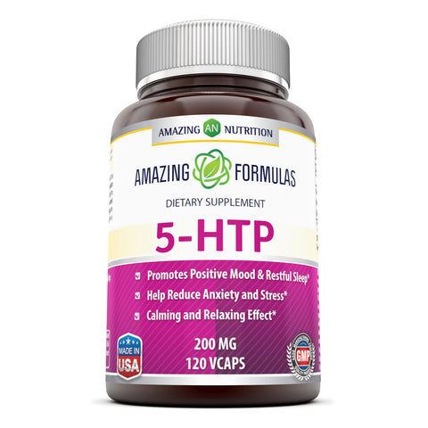 Amazing Formulas 5 HTP Supplement 200 Mg 120 Veggie Capsules