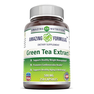 Amazing Formulas Green Tea Extract 500 Mg 250 Capsules - Amazing Nutrition