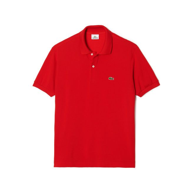 Short Sleeve Classic Pique Polo Shirt (Red)