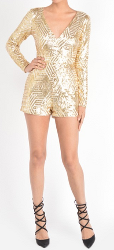 Sequence Romper (Gold)