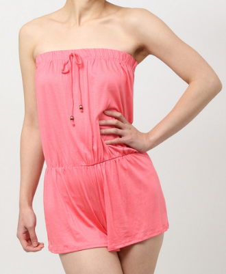 Sleeveless Romper (Coral)