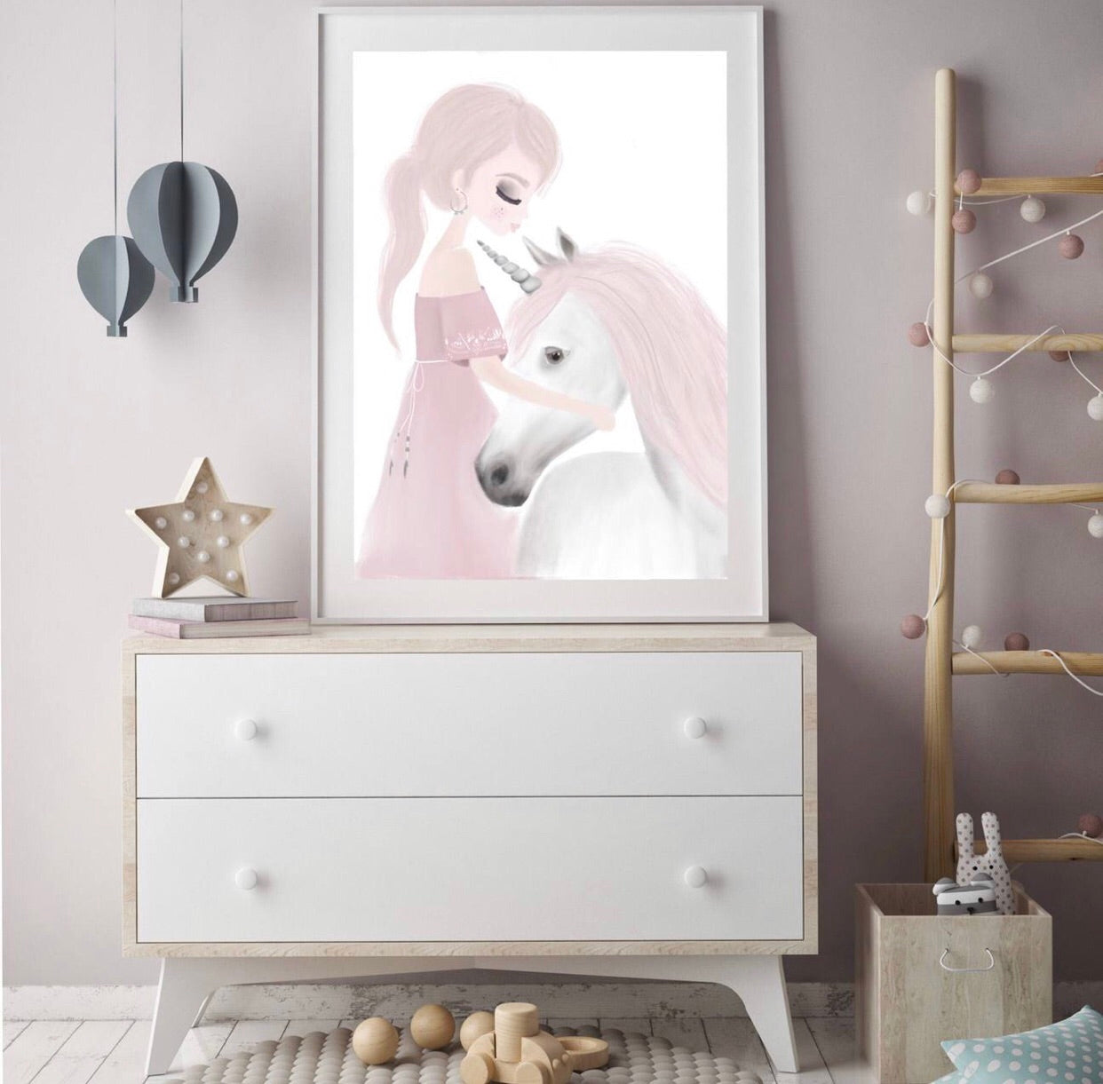 Ivy and Miss Unicorn  - Fine Art Print