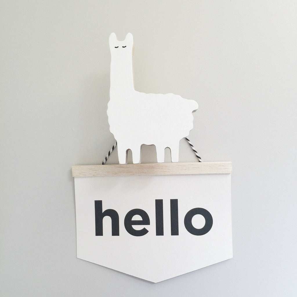 Llama Wall Hook in white