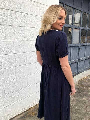 Sofia Midi Dress in Navy
