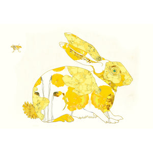 Yellow Bunny Art Print