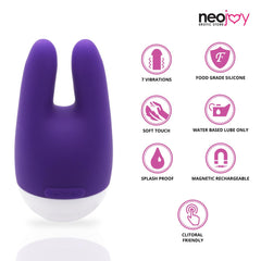 NeoJoy Nip-Clit Stimulator - Purple