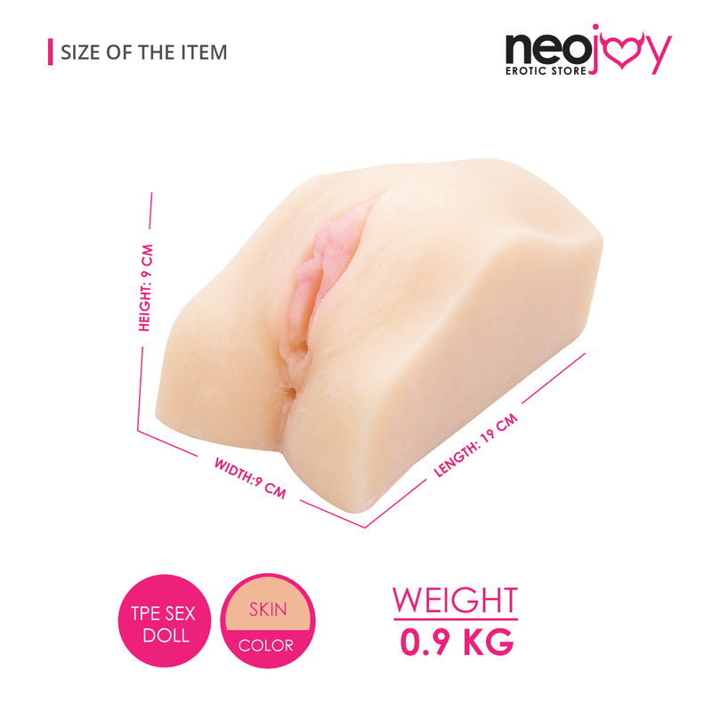 Neojoy Sex Doll TPE Realistic Vibrating Vagina & Ass Male Masturbator - Small 0.9kg