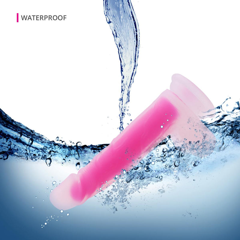 Neojoy - Pure Silicone transparent and luminous Dildo - Pink