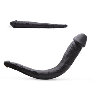Neojoy Realistic Double Ended Dildo TPE - Black 8.66 inch - 22cm