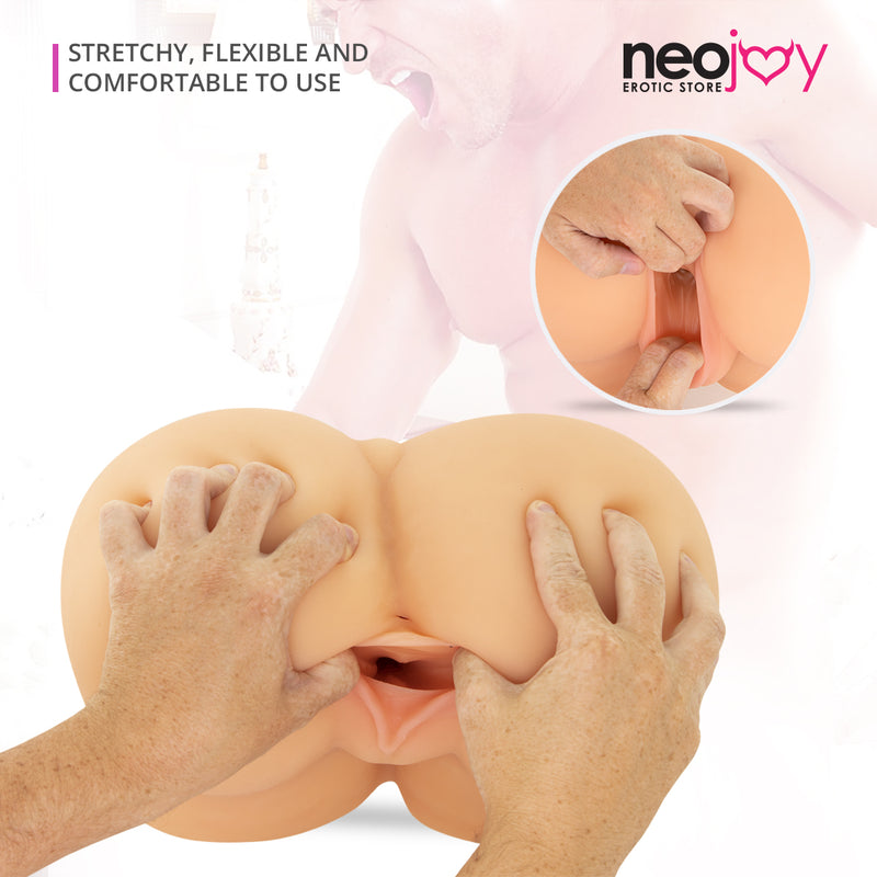Neojoy Miss Buttocks Realistic Sex Doll with Pussy and Ass TPE  Flesh - Large - 10.9Kg