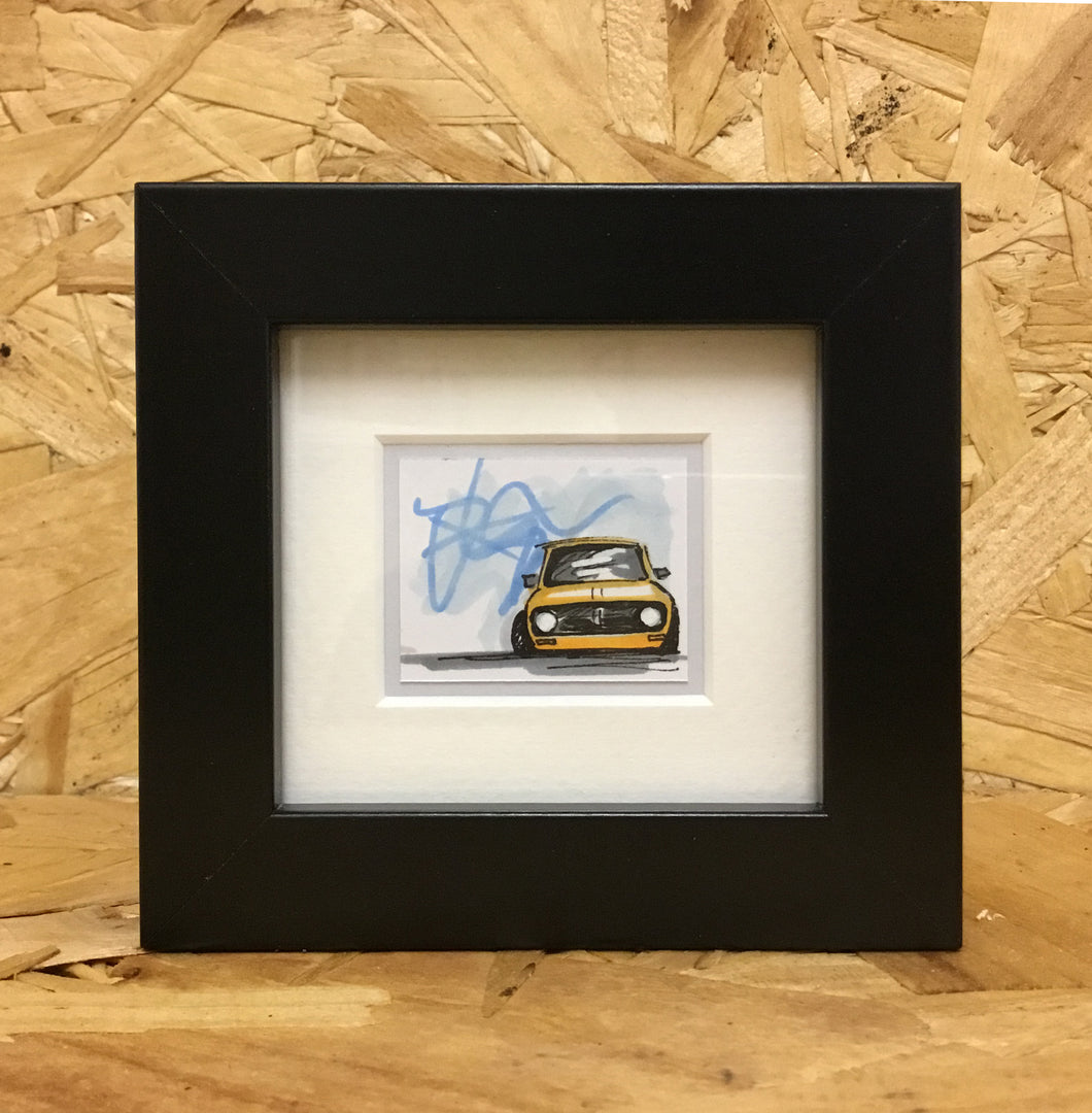 Mini Clubman (059) - Miniature Framed Sketch