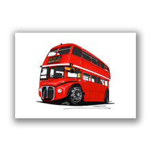 Load image into Gallery viewer, AEC Routemaster Bus - Caricature Car Art Print