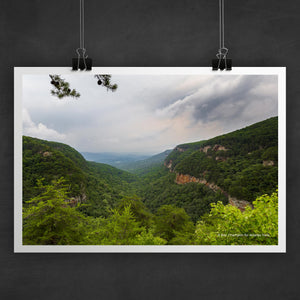 Cloudland Canyon Rim Photo Art Print