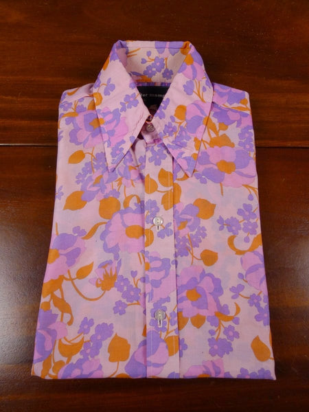 18/1188 amazing genuine 1960s peter memphis london boutique psychedelic pink silk shirt 13.5