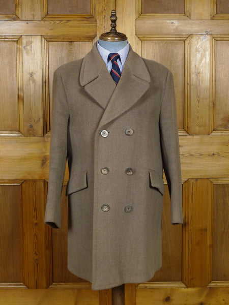 19/0184 vintage 'director collection' elysian wool heavyweight british warm style coat overcoat 41-42
