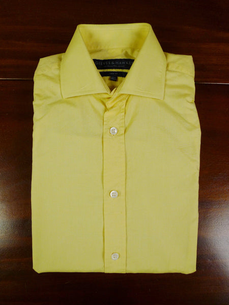 19/0795 gieves & hawkes savile row lemon double cuff 100% cotton shirt 15.5