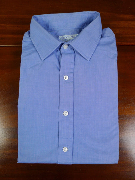 19/0813 hilditch & key light blue dealer double cuff 100% cotton shirt 17