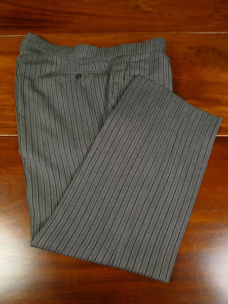 19/0911 vintage benson & clegg bespoke high-rise 'cashmere stripe' worsted morning trouser 40