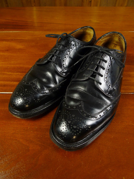 19/1105 excellent church's black 'grafton' leather brogue shoe (rrp £570) uk 7 f