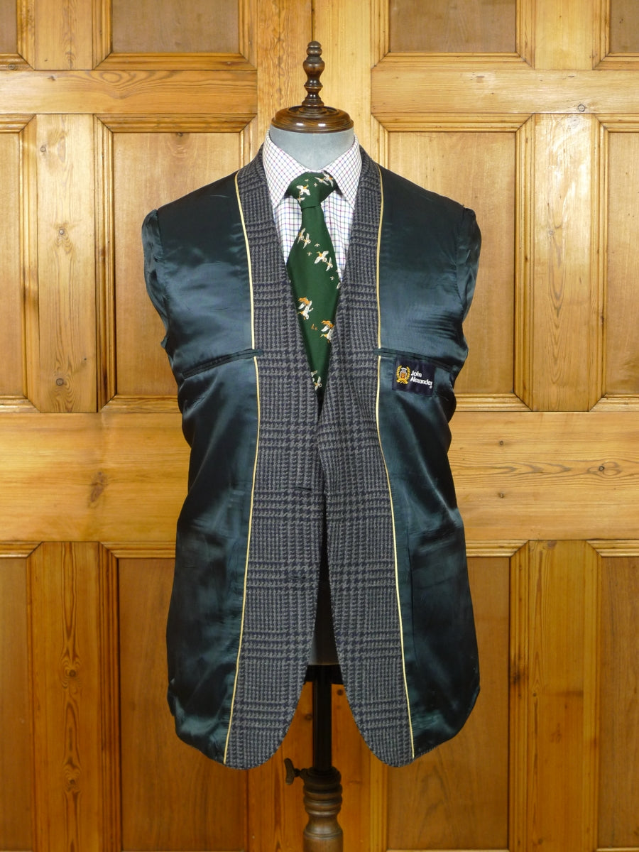 19/1129 us tailored wool & cashmere blue glen check sports jacket blazer 40-41 regular to long