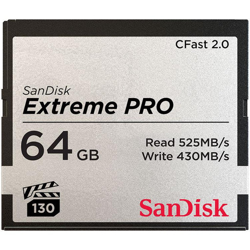 Sandisk 64GB Extreme Pro CFast 2.0 - Available with the LensLockers Equipment Access Program (LEAP)