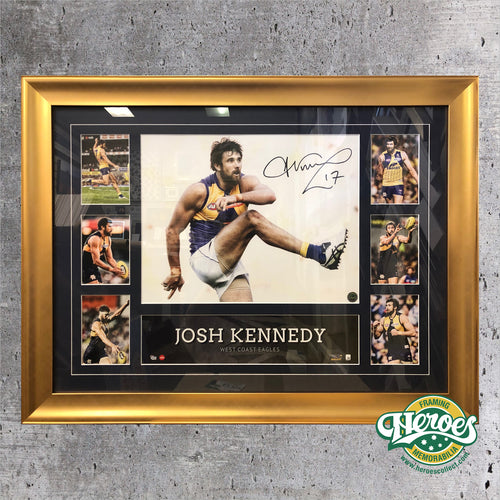 Josh Kennedy WCE Signed Montage - Heroes Framing & Memorabilia