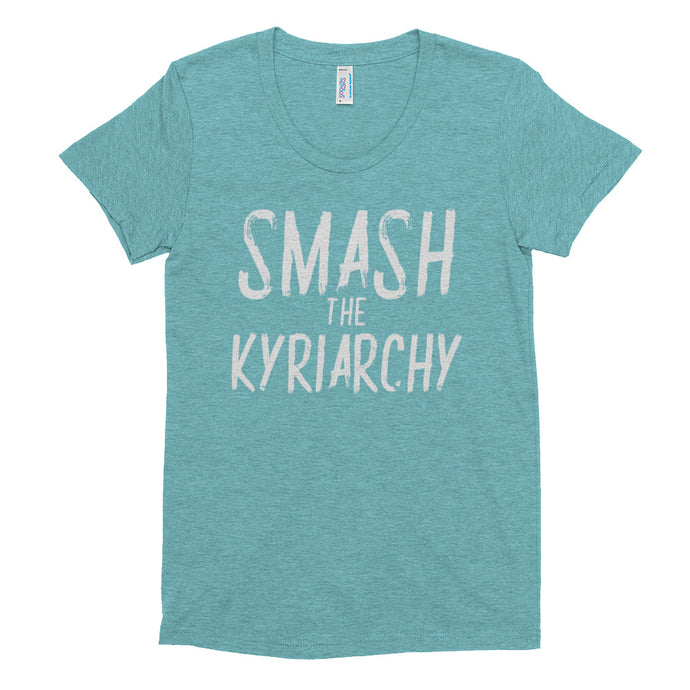 Femmes Smash the Kyriarchy in a Crew Neck T-shirt