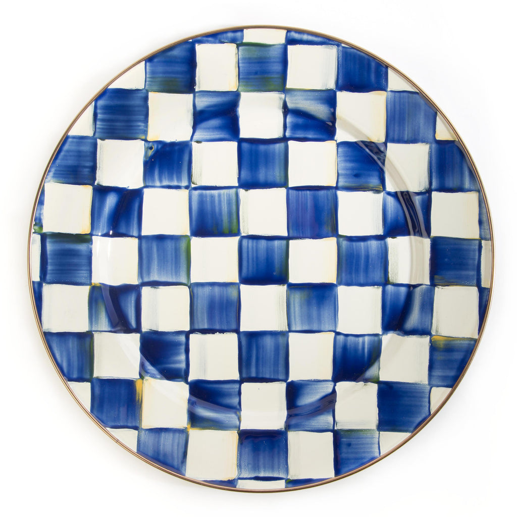 Mackenzie Childs Royal Check Charger Plate 89201-240