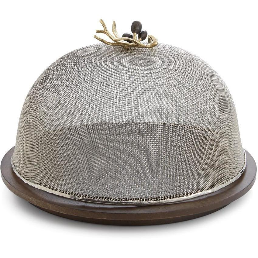 Michael Aram Olive Branch Mesh Dome & Wood Base  175075