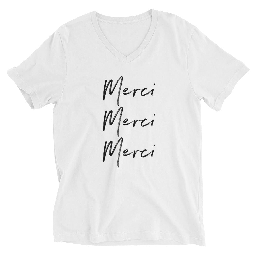 Merci Unisex V-Neck T-Shirt