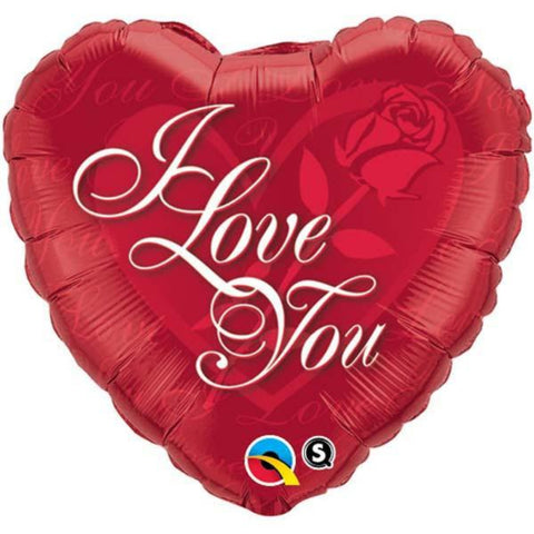 I Love You  Rose Foil Balloon