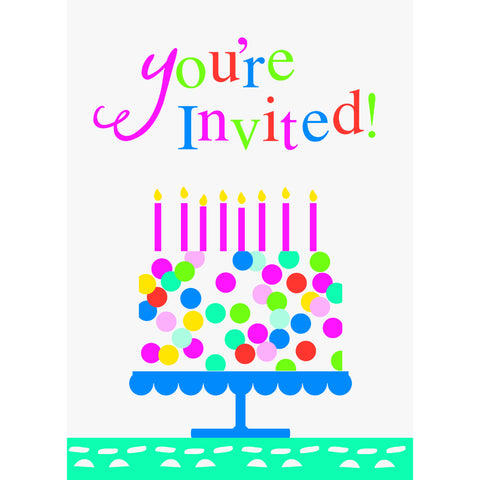Confetti Cake Birthday Invitations