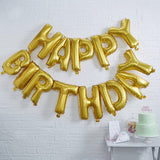 Pick & Mix Gold Happy Birthday Foil Balloon Bunting