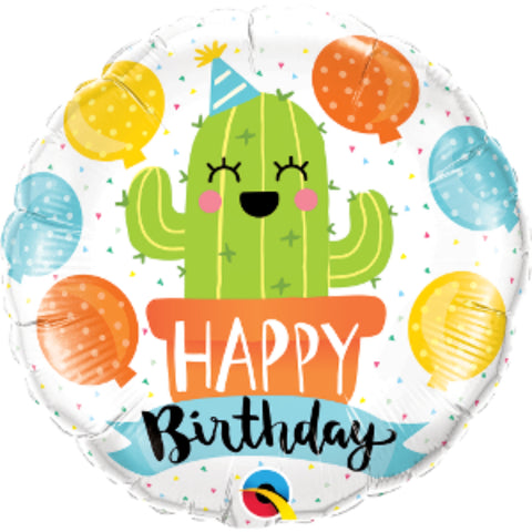 Birthday Party Cactus Foil Balloon