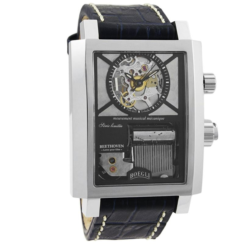 "Grand Festival Beethoven ""Lettre pour Elise""Manual Wound Men's Watch M.801-Luxury Watches 