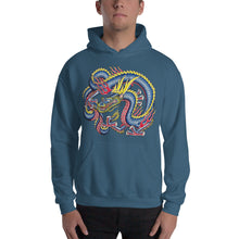 Blue Japanese Dragon Hooded Sweatshirt