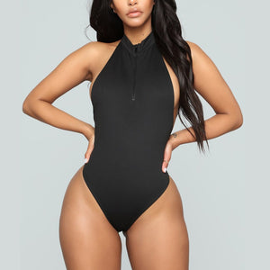 Zip top one piece