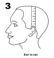 measure ear to ear