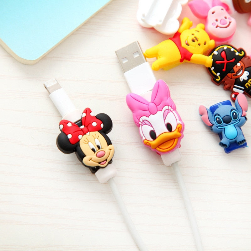 Cartoon Protector Cable Cord Saver Cover Coque For Cable iPhone 4 4S 5 5S SE 5C 6 6S 7 7 8 Plus X Protective Sleeve Fundas