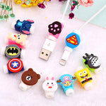 Cartoon Protector Cable Cord Saver Cover Coque for iPhone 8 Plus 4 4S 5 5S SE 5C 6 6S 7 X Xs Max XR For Funda iPhone 7 Plus case