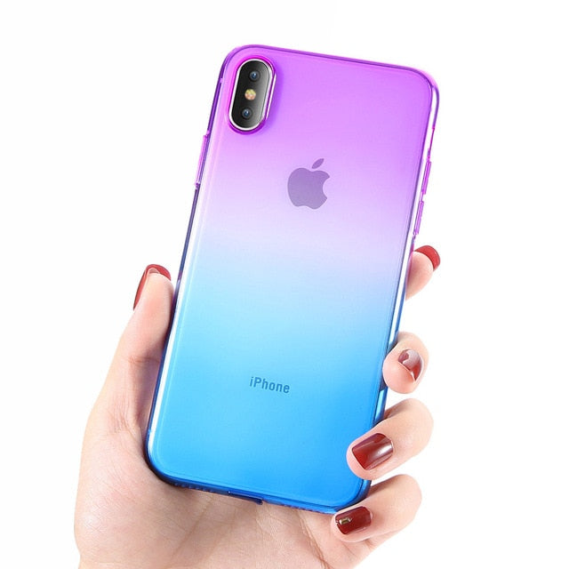 FLOVEME For iPhone 6 6S iPhone 7 8 Plus Ultra Thin Cases for iPhone X XS Max XR Clear TPU Phone Cases For iPhone 5S 5 SE Fundas