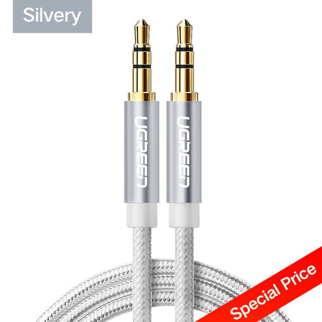 Ugreen Jack 3.5 Audio Cable 3.5mm Speaker Line Aux Cable for iPhone 6 Samsung galaxy s8 Car Headphone Xiaomi redmi 4x Audio Jack