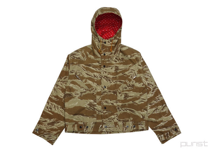 Tiger Camo Hooded Windbreaker