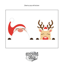 Sneaky Santa and Rudolph Wall Decal